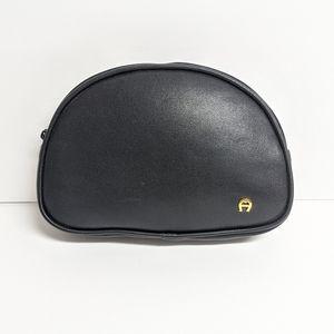 Etienne Aigner Black Makeup/Cosmetic Bag